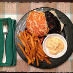 Meatless Monday No. 12 – Portobello Mushroom Burgers & Crispy Sweet Potato Fries