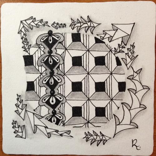 Tangle Tile - D