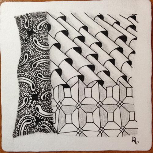 Tangle Tile - P