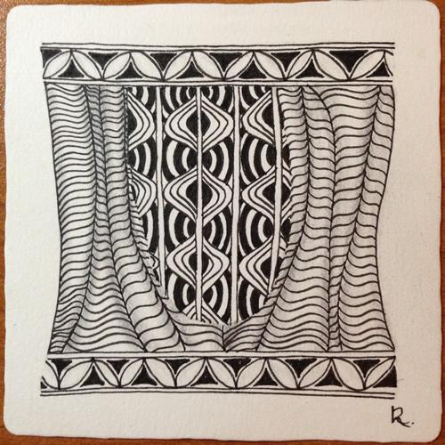Tangle Tile - U