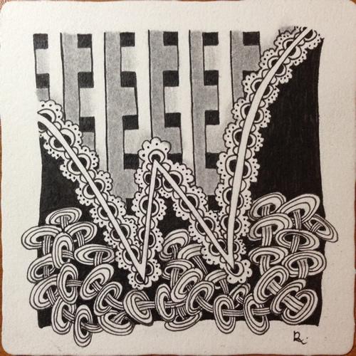 Tangle Tile - W