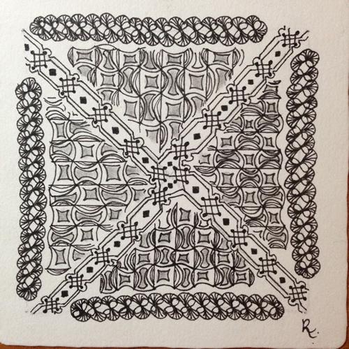 Tangle Tile - X