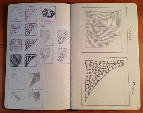 Sample of tangle sketchbook