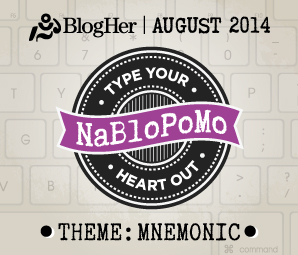 NaBloPoMo August 2014