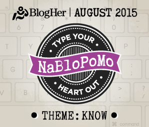 NaBloPoMo August 2015
